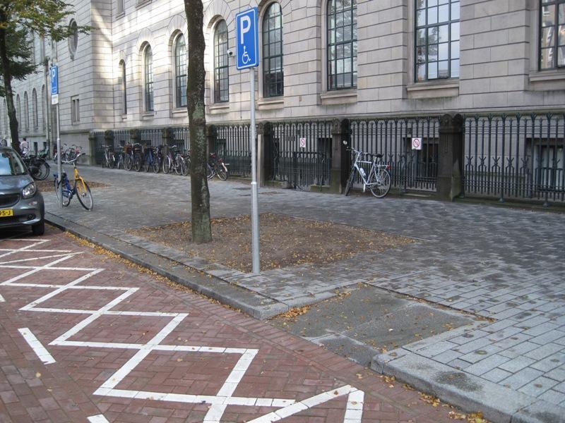 Algemene gehandicapten parkeerplaats