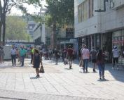 Wandelend publiek Rotterdam